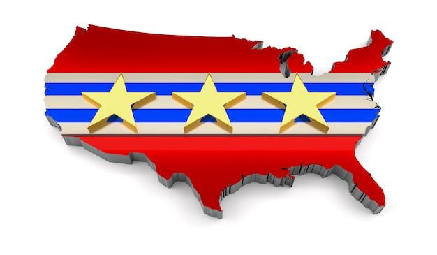 Elección presidencial en estados unidos. representación 3d