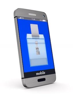 Elecciones en internet. representación 3d aislada