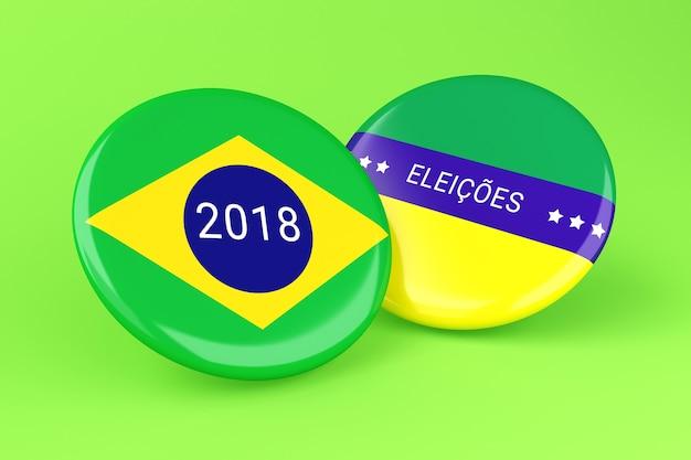 Elecciones pin 3d 2018. brasil votando.