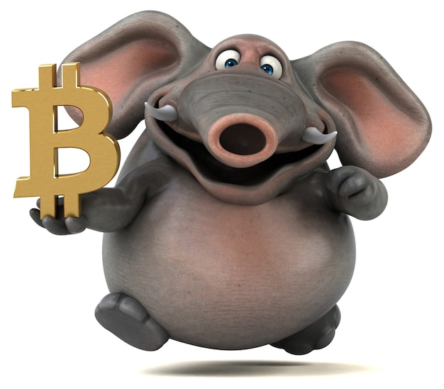 Elefante divertido - ilustración 3d