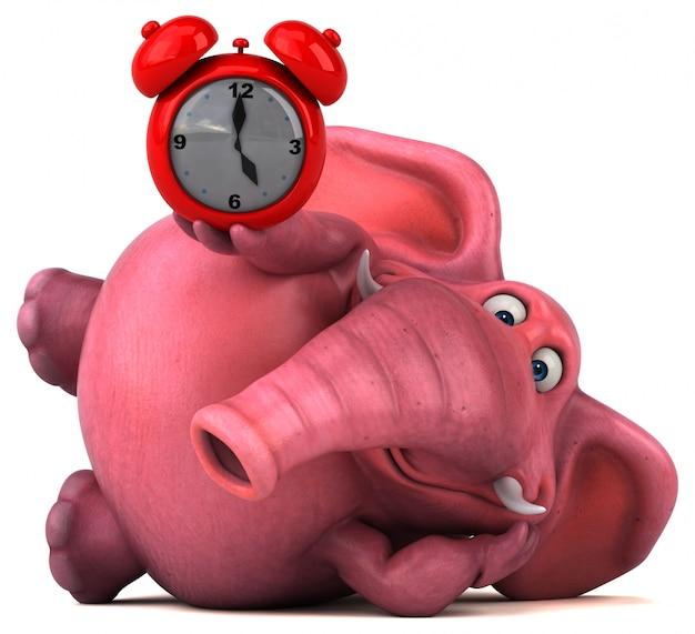 Elefante rosado - ilustración 3d