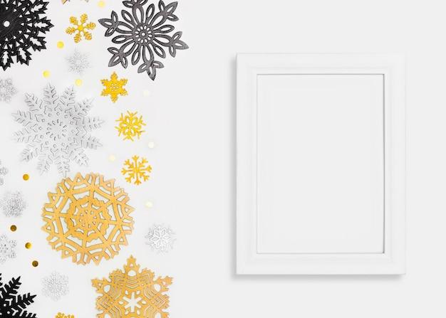 Elegante concepto navideño con marco