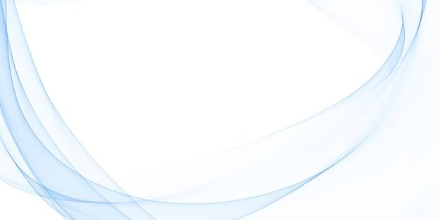 Elegante fondo blanco con líneas onduladas azules