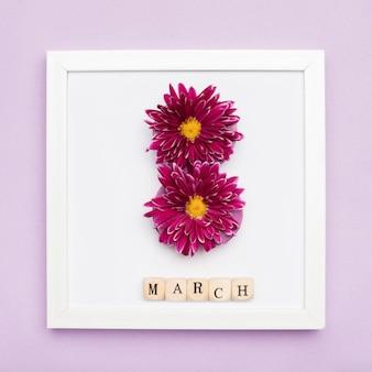 Elegante marco con flores
