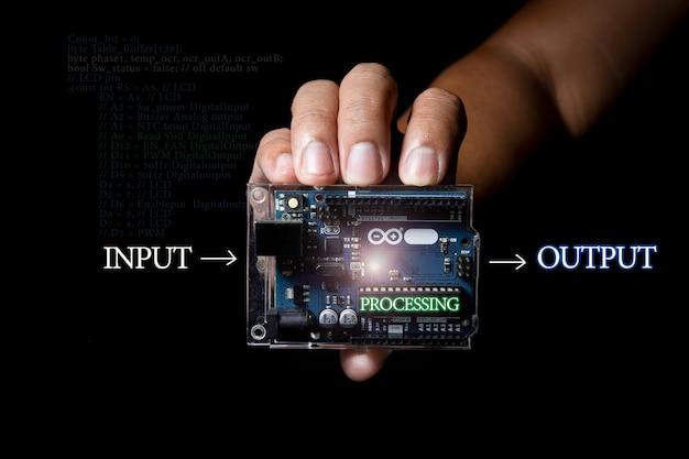Elemento amplio de control arduino