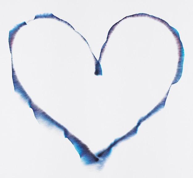 Elemento de arte de cromatografía de corazón estético.