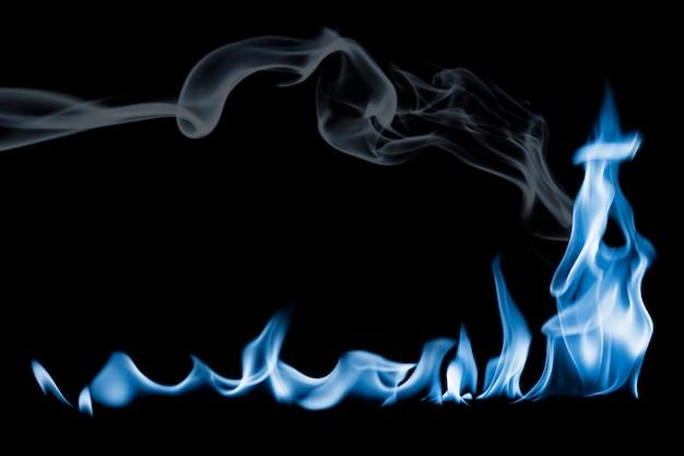 Elemento de borde de llama ardiente, imagen de fuego realista