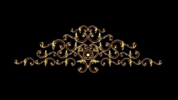 Elemento de decoración de yeso de lujo, estuco de concepto de pared, patrón de arquitectura interior.