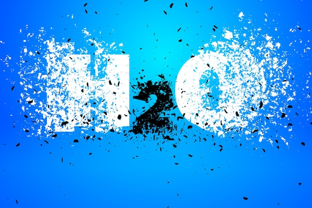 Elemento de diseño de arte de ilustración de fondo abstracto h2o