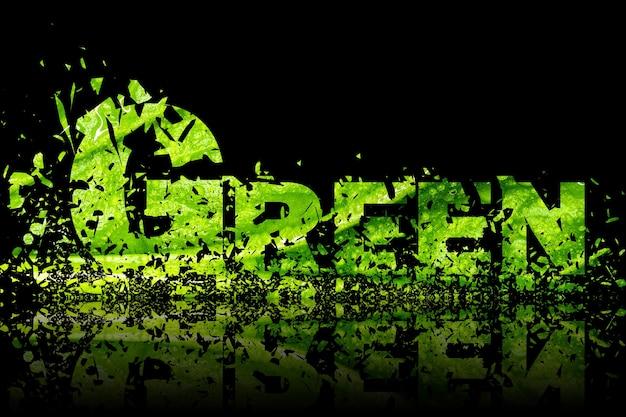 Elemento de diseño de arte de ilustración de fondo abstracto verde