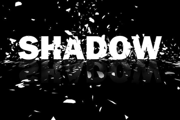 Elemento de diseño de ilustración de fondo abstracto de sombra