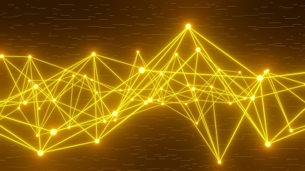 Elemento de diseño de línea de datos abstractos 3d