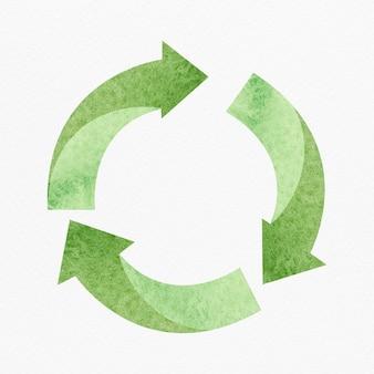 Elemento de diseño de símbolo de reciclaje verde