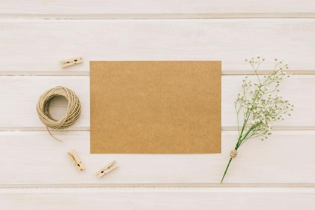 Elementos de boda y plantilla
