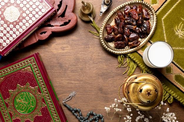 Elementos de celebración islámica de año nuevo.