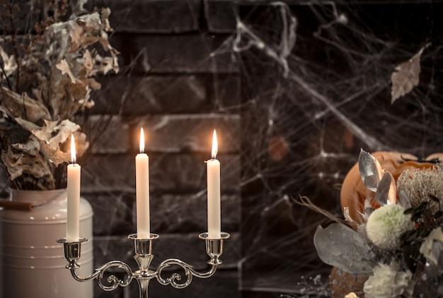 Elementos de decoración gótica de halloween