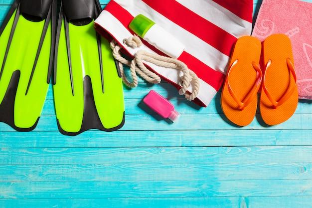 Elementos de vacaciones de verano