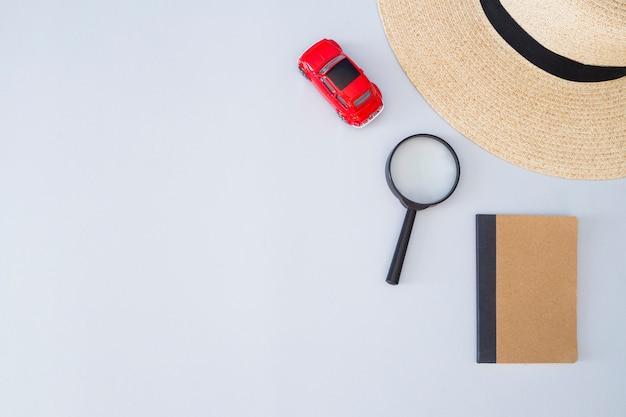 Elementos de viaje y copyspace