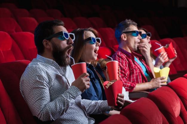 Las emociones de la gente en el cine.