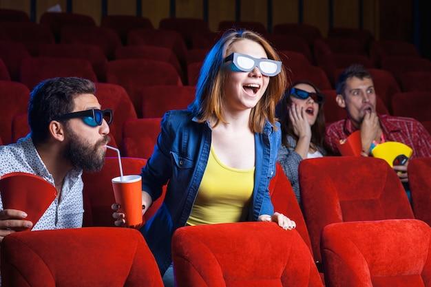 Las emociones de las personas en el cine.