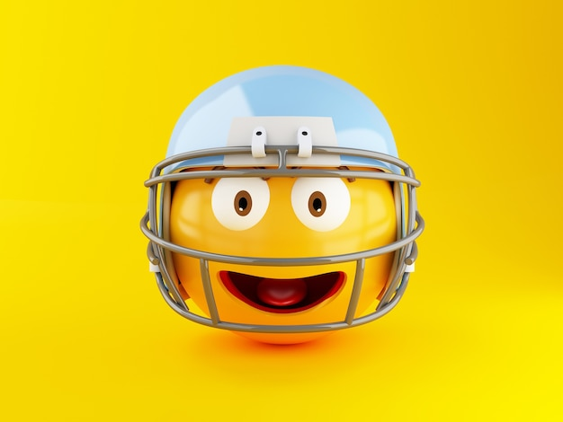 Emoji 3d con casco de fútbol americano