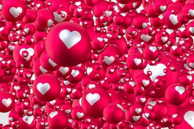 Emojis de corazón de reacción de facebook