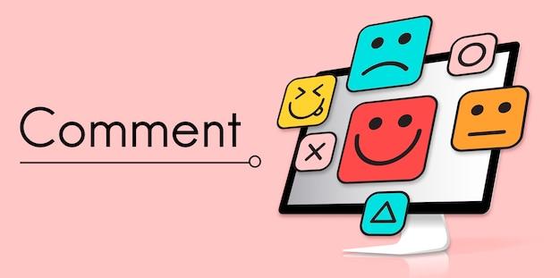 Emoticonos de emoticonos de comentarios de evaluación de clientes