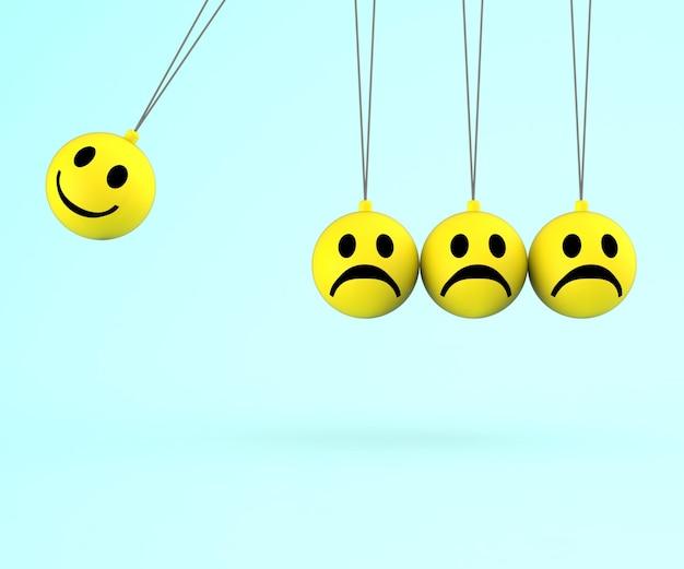 Emoticonos felices y tristes muestra emociones positivas negativas