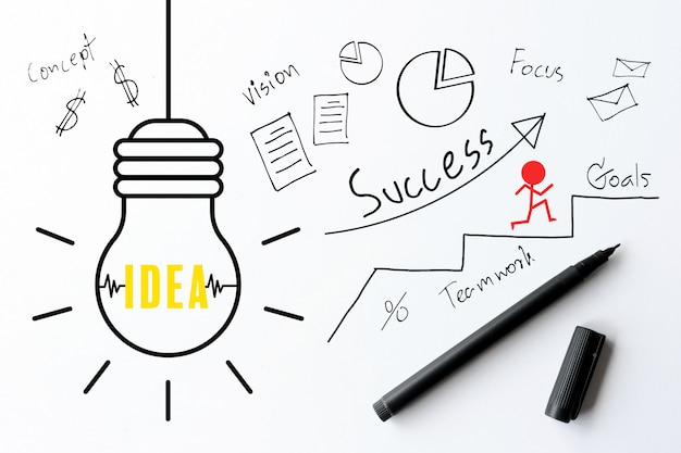 Empresario escribiendo un plan de negocios