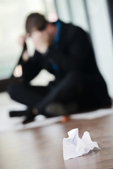 Empresario estresado