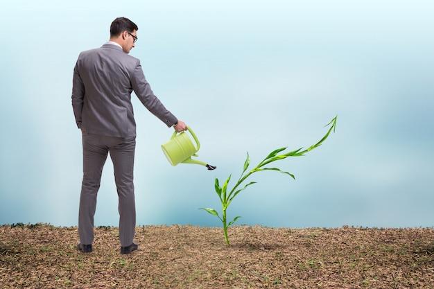Empresario en nuevo concepto de negocio