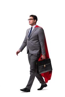 Empresario de superhéroe aislado