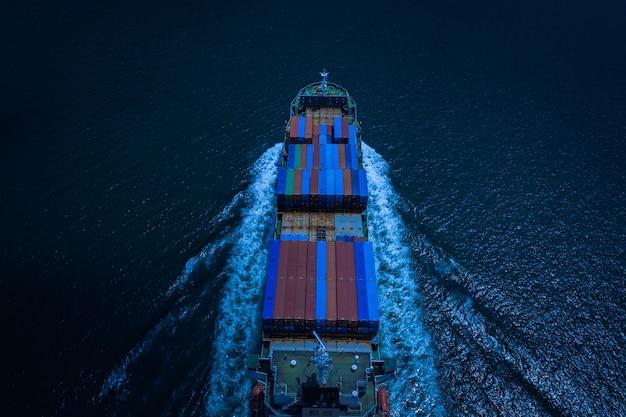 Empresas e industrias navieras y servicios de entrega de contenedores de carga internacional