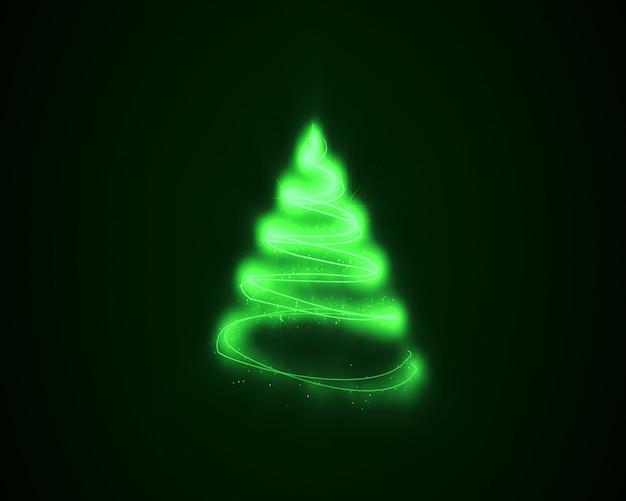 Encierra en un círculo las líneas verdes de las luces fluorescentes