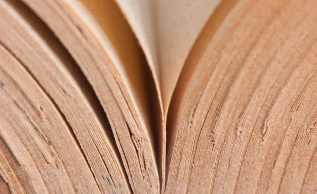 Encuadernación de libros antiguos macro