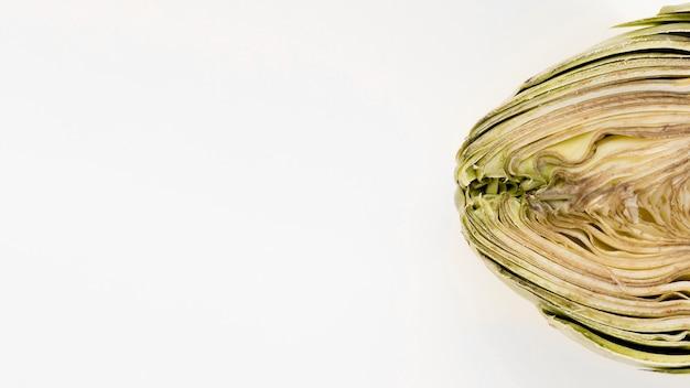 Endecha plana de alcachofa con espacio de copia