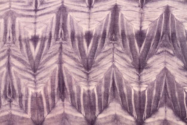 Endecha plana de colorido patrón de teñido anudado