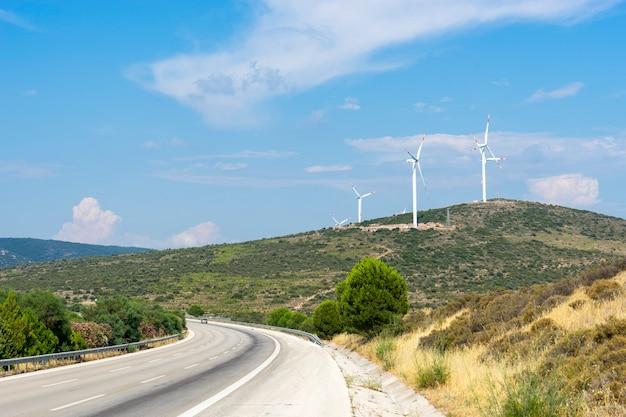 Energía ecológica, turbinas eólicas