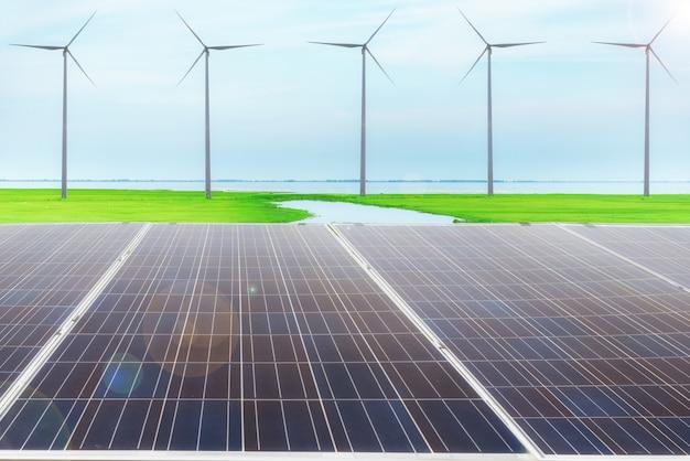 Energía eléctrica, concepto de energía limpia.