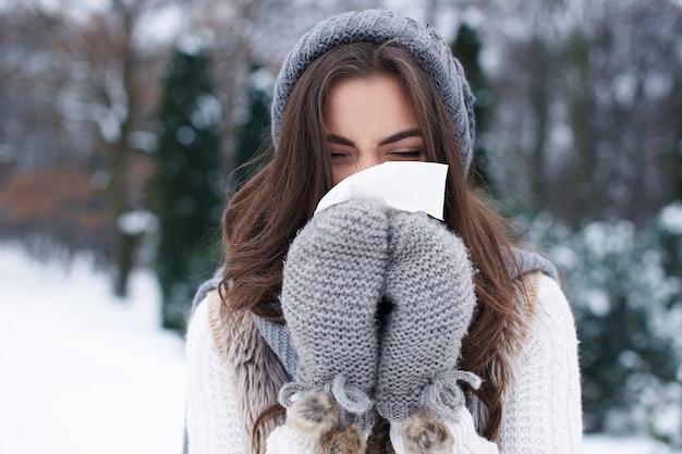 La enfermedad en invierno es muy popular.