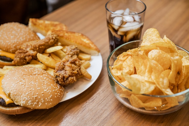 Engorde y comida rápida no saludable