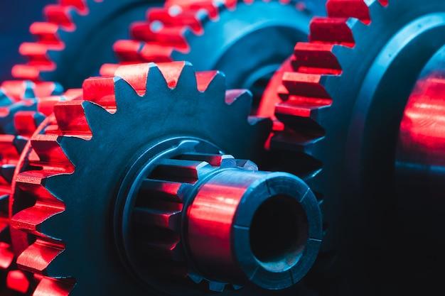 Engranajes metálicos de mecanismo de cerca