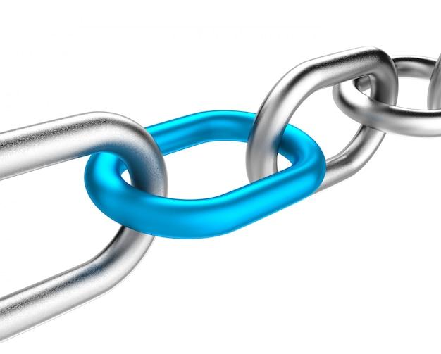 Enlace de cadena azul