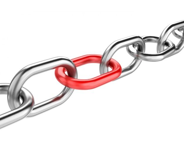 Enlace de cadena roja