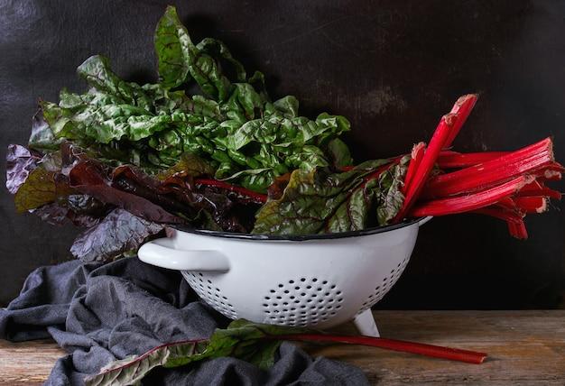 Ensalada de acelgas y hojas de acelga