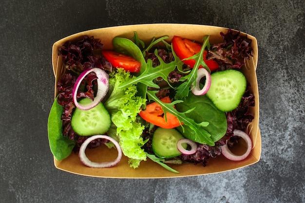 Ensalada saludable, ensalada de hojas mixtas