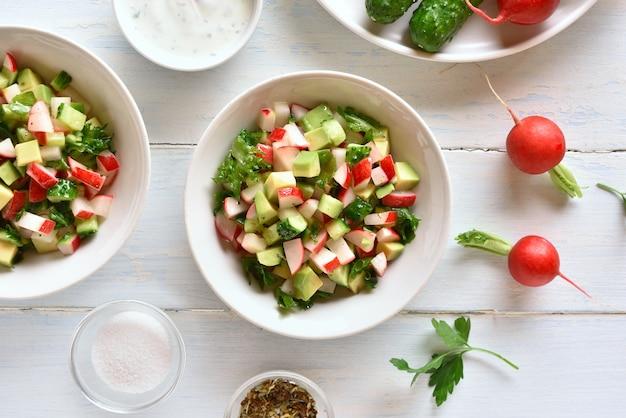 Ensalada de vegetales saludables