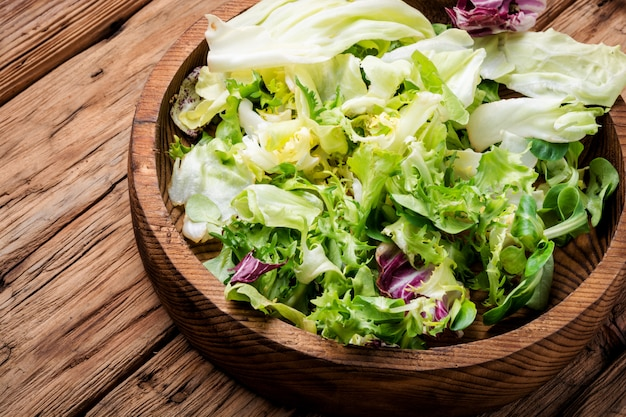 Ensalada de verduras de primavera