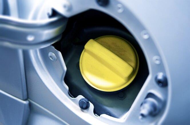 Entrada de combustible del coche