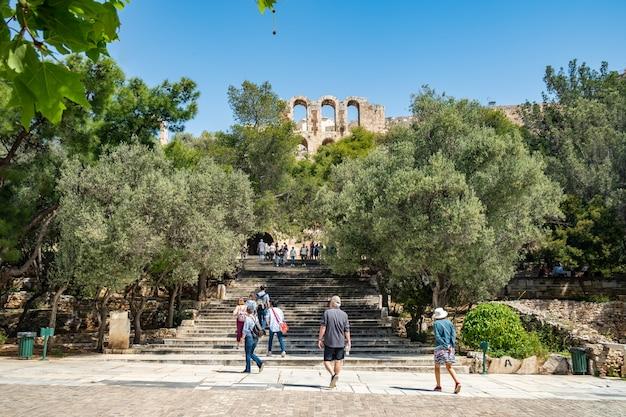 La entrada principal a la acrópolis de atenas.